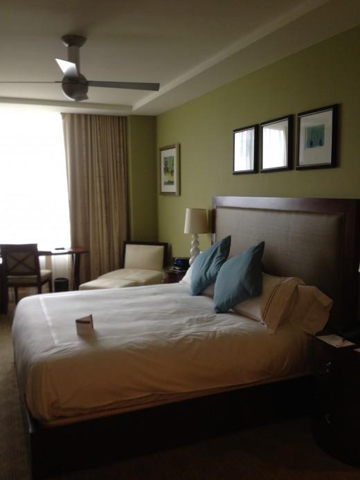 A typical condo suite master bedroom
