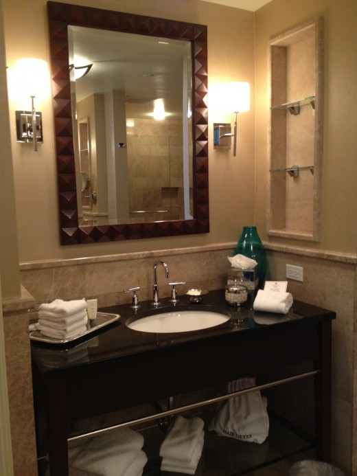 There are his and hers sink/vanity areas in the master suite bathroom. This was mine.