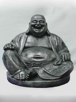 "What are the peculiarities of ""laughing Budha""?"