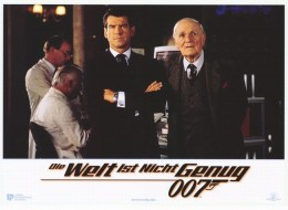 Pierce Brosnan with Desmond Llewelyn