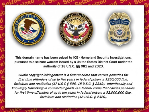 "Over 75 websites were seized and shut down last week. Right now, their focus is websites that they claim ""violate copyrights,"" yet the torrent finder website that was seized by DHS contained no copyrighted content whatsoever."
