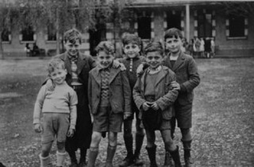 Children who would soon be victims of the Nazi obsession with racial purity.