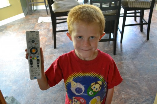 A Seven Year Old and The Remote