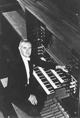 E. Power Biggs at the Organ
