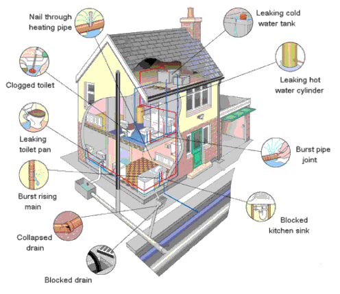A system such as a home's plumbing can develop many different problems over time.