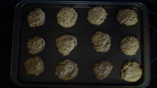 Step 7:  Banana Oatmeal Cookies fresh from the oven.