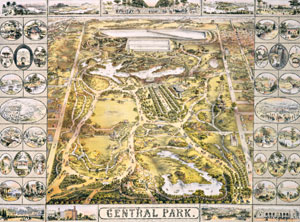 Central Park - map from the Encyclopedia of New York City