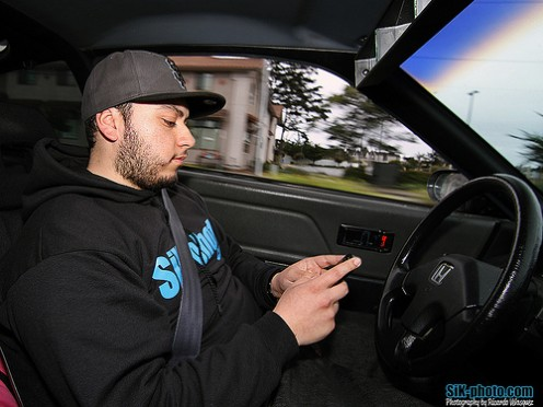 Teenage Driver Texting