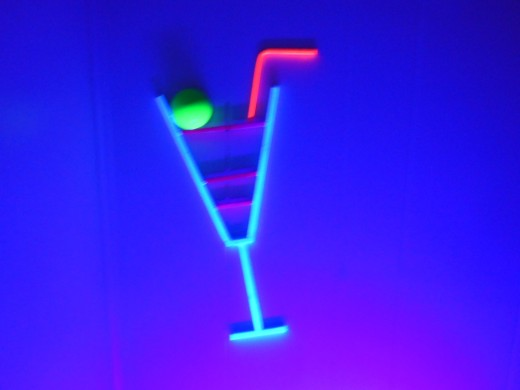 whimsicle neon cocktail glass