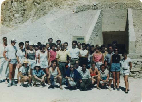 With my class on a study trip to Egypt during the B.T.S. de Tourisme. I'm at far left in the front!