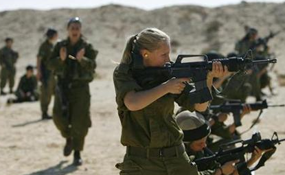 Israeli women in training