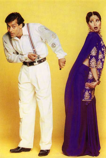 Salman Khan and Madhuri Dixit in Hum Aapke Hain Koun.