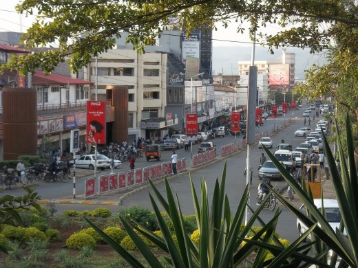 Kisumu City, viewed from the greenery