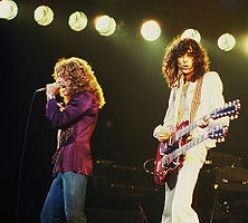 Jimmy Page (stage right)