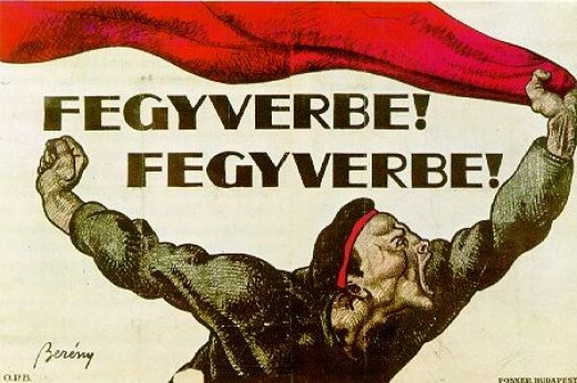 """To Arms! To Arms!"" Bolshevik Hungarian propaganda poster from 1919"