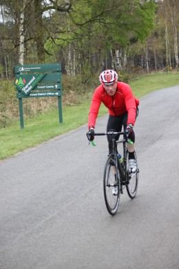 Breathing provides oxygen for a cyclists' working muscles