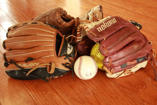 Break in a new baseball glove the right right way and it will last a long time