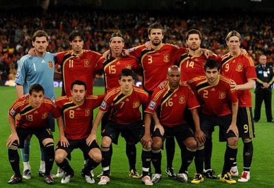 The Spain squad.