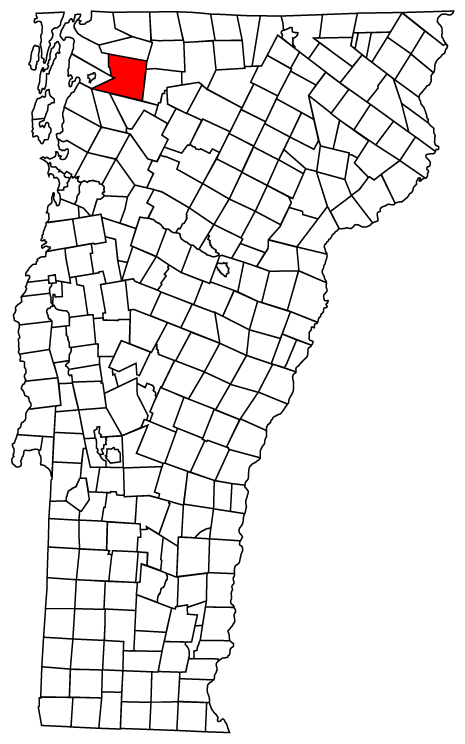 Map location of Fairfield, Vermont