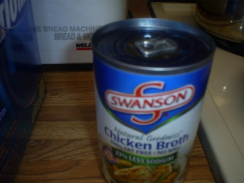 Chicken stock is a great base for a simple home made chicken noodle soup.