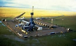 A modern oil rig site
