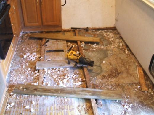 Bathroom Floor Replacement Repair