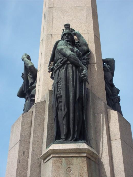 Statue representing Strength, Obelisk, Montevideo, Uruguay, by José Luis Zorilla de San Martín
