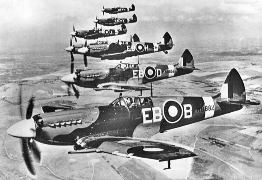 Spitfires in formation from the 41st Squadron