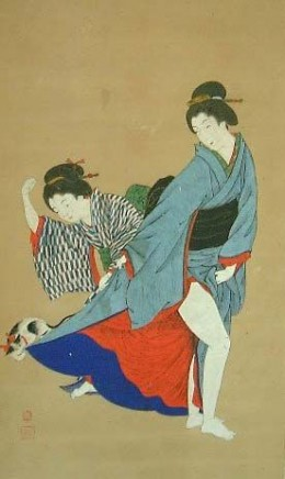The legendary cat saved the life of one geisha by pulling on her kimono and preventing her from meeting a poisonous snake