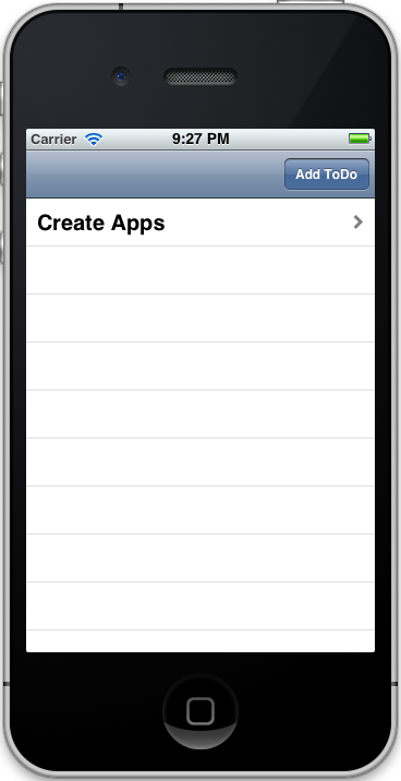 Figure 3: UITableView with Data