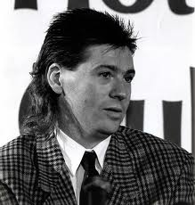 Chris Waddle and his 1980s mullet hair cut