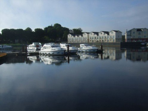 Hire craft moorings at Carrick-on-Shannon