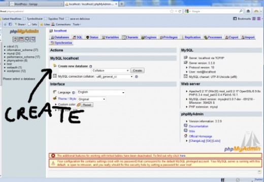 Enter WordPress and select utf8_unicode_ci