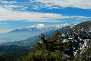 Mount San Antonio in the San Gabriel Mountains, Los Angeles County.