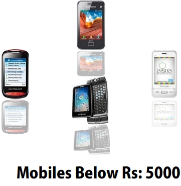 Mobiles Below Rs. 5000