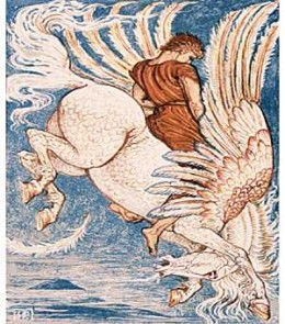 Pegasus, the winged steed of Greek Mythology
