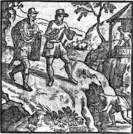 Divining for Gold (woodcut dated 1569)