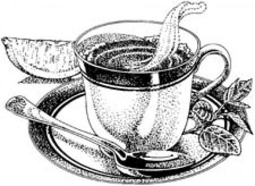 cup of tea. a cup of tea