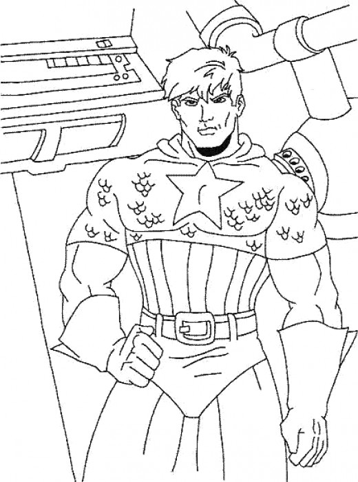 avengers coloring pages captain america - photo#23