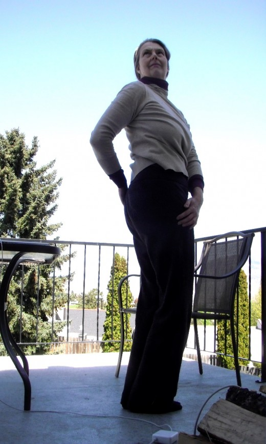 Standing twist in your office or while you stand in line refreshes you and releases tension.
