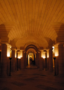 Pictured here is the crypt within the Pantheon Paris.