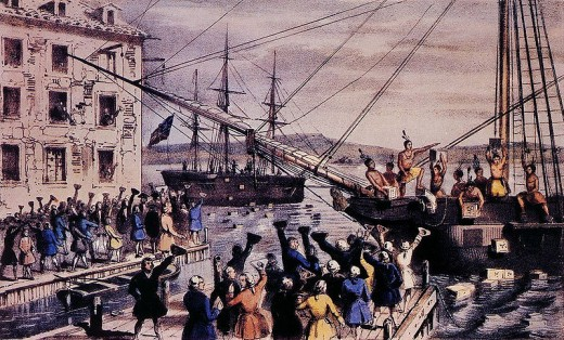 The Boston Tea Party by Nathaniel Currier