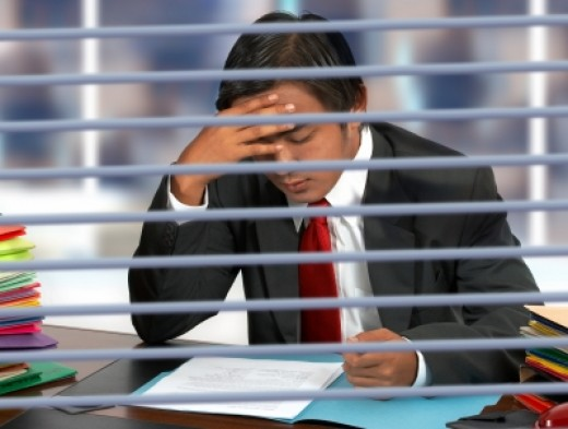 An over load of work stress is one reason many people have sleep trouble.
