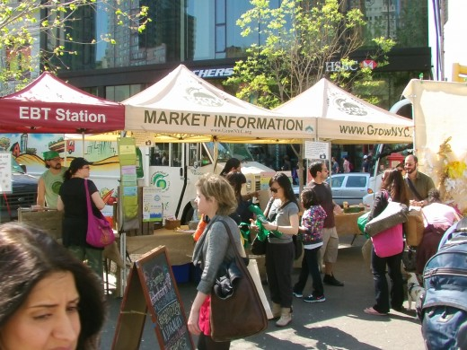 The information booth for the Farmers Market