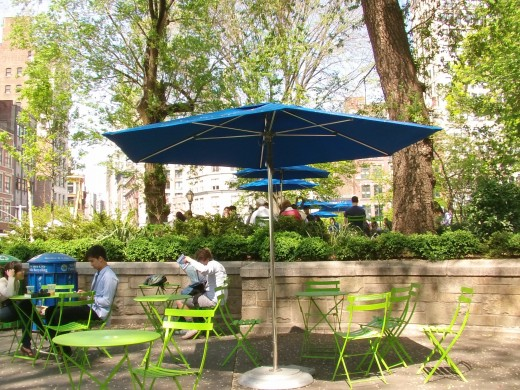 Little Dinning area at the park in Herald Square