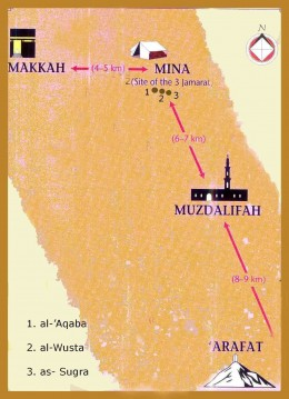 The route of the Pilgrimage to Makkah. HAJJ