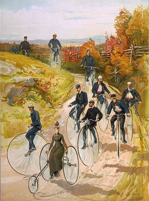 Bicycling in 1887.