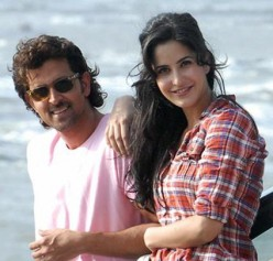 Hrithik Roshan and Katrina Kaif in Zindagi Na Milegi Dobara .