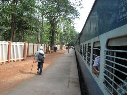 Nilambur Train at Vaniyambalam Railway station