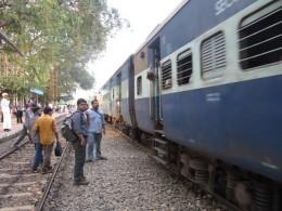 Waiting train at Angadippuram